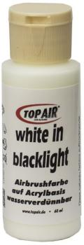TopAir-Effektfarbe white in blacklight 60ml
