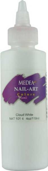 NAT-101-4 NailArt Farbe120 ml Cloud White