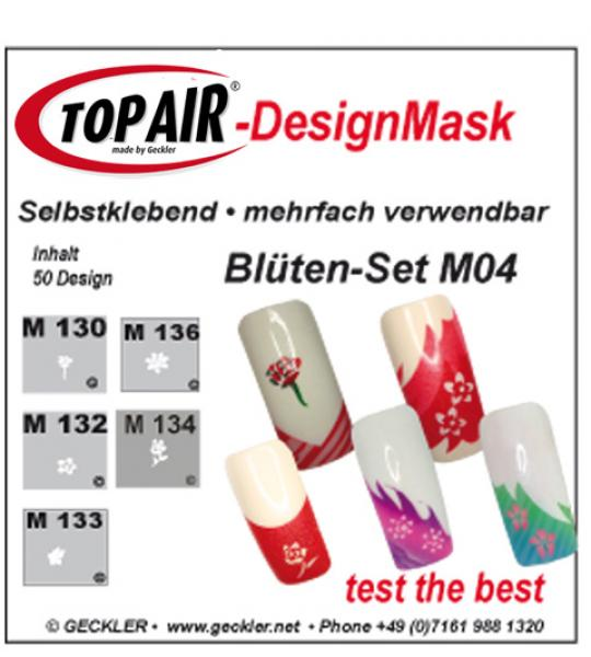 TopAir®-DesignMask M 04-5 Blütenset- Packung mit 5 verschieden Motiven - Made by Geckler