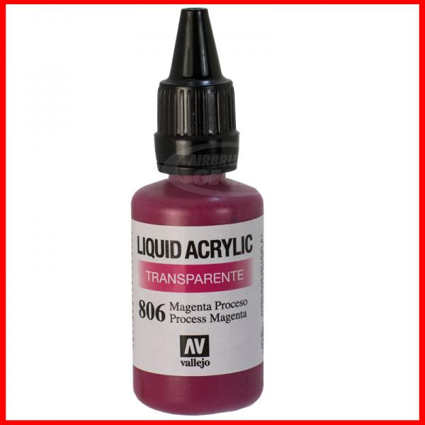 Vallejo Liquid Acrylic 806 Magenta 32 ml