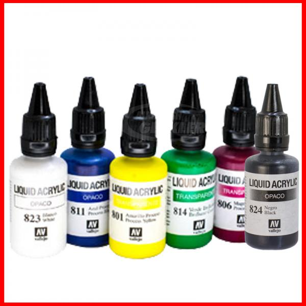 Vallejo Liquid Acrylic 6 x 32 ml-Set Vers.2